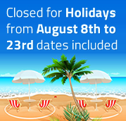 Closed for holydays from August 8th to 23th